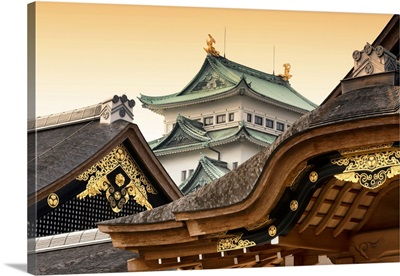 Japan Rising Sun Collection - Nagoya Castle at Sunset