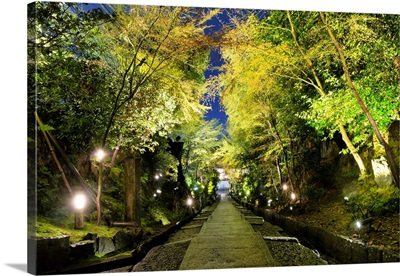 Japan Rising Sun Collection - Night Staircase Kyoto