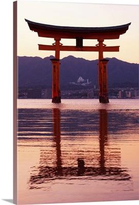 Japan Rising Sun Collection - Sunset of Torii Gate in Miyajima