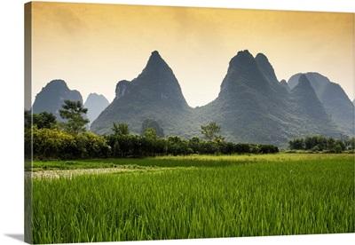Karst Mountains at sunset, Yangshuo