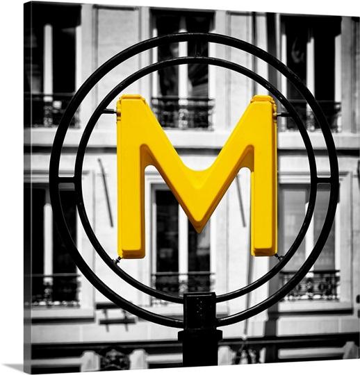 M as Metro - Paris Wall Art, Canvas Prints, Framed Prints, Wall ...