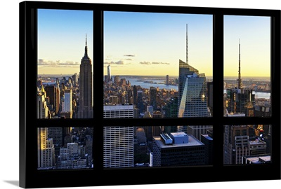 New York at Sunset - View from the Window