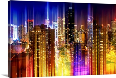New York City at Night - Urban Stretch Series