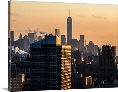 New York City - Manhattan Architecture at Sunset