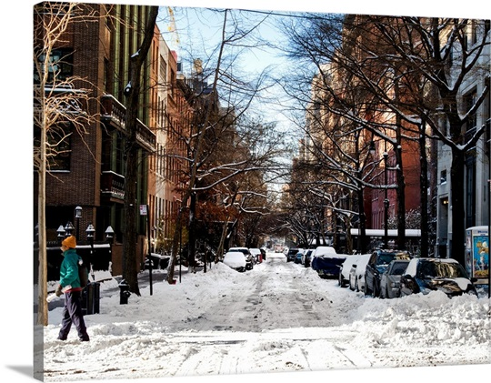 New York City Canvas Wall Art new york city - manhattan under snow wall art, canvas prints
