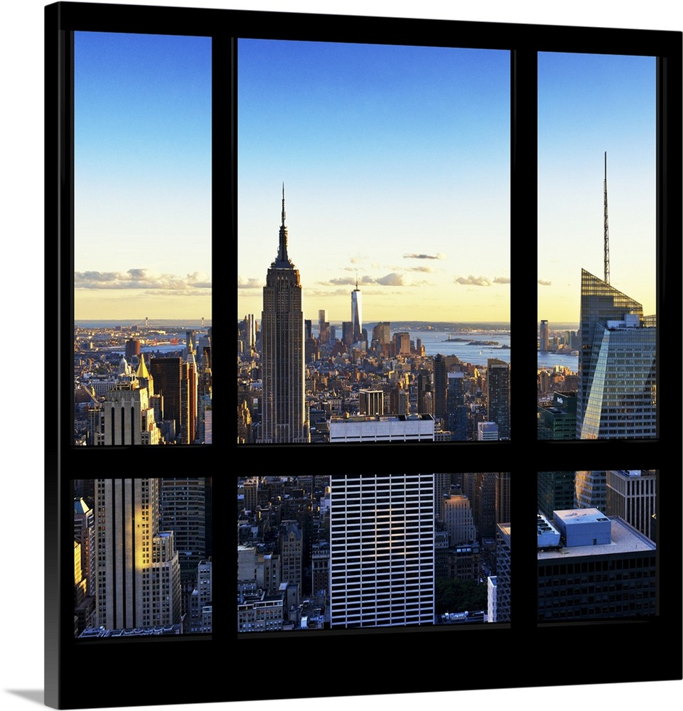 New York View From The Window Wall Art Canvas Prints Framed Prints Wall Peels Great Big Canvas