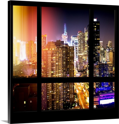 new york view from the window city light wall art canvas prints