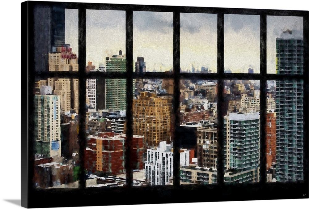 New York View From The Window, NYC Painting Series