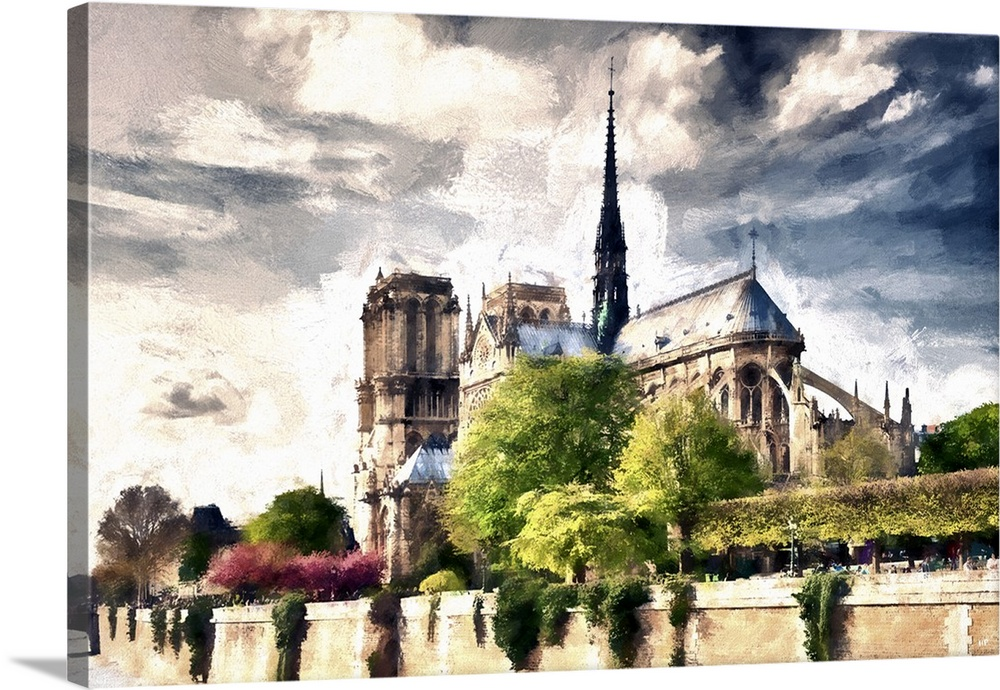 Notre Dame De Paris Paris Painting Series Wall Art Canvas Prints Framed Prints Wall Peels Great Big Canvas