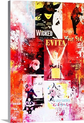 NYC Watercolor Collection - Broadway Shows II
