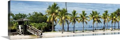 Paradisiacal Beach overlooking Downtown Miami