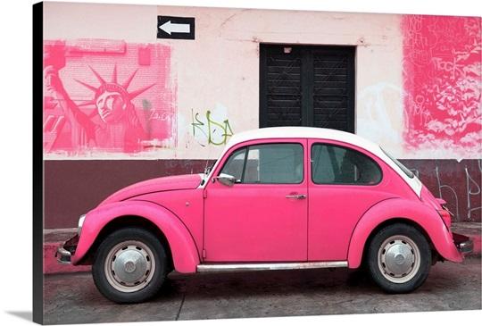 Pink Vw Beetle Car And American Graffiti