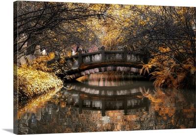 Romantic Bridge in Autumn