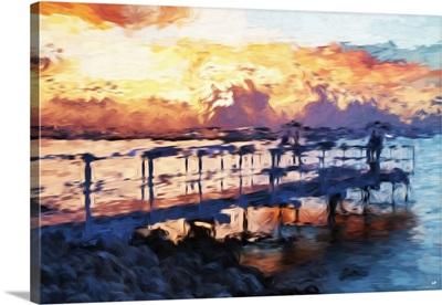 Romantic Pontoon II, Oil Painting Series