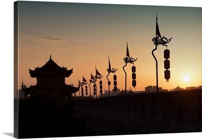 Shadows of the City Walls at sunset, Xi'an City