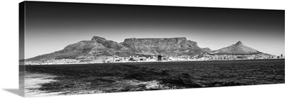 Table Mountain - Cape Town Black and White