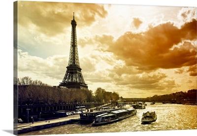 The Eiffel Tower at Sunset, Paris
