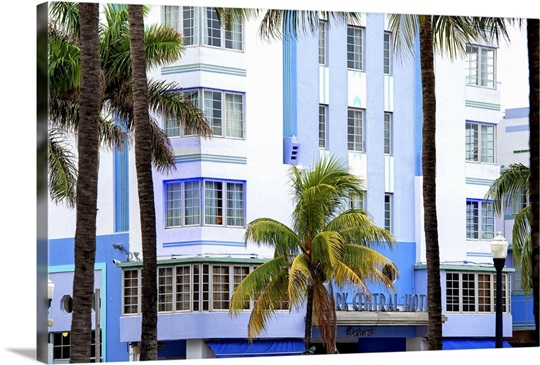 the park central hotel miami beach art deco district wall art