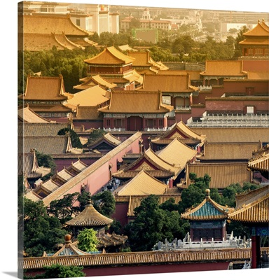 View of the roofs of Forbidden City