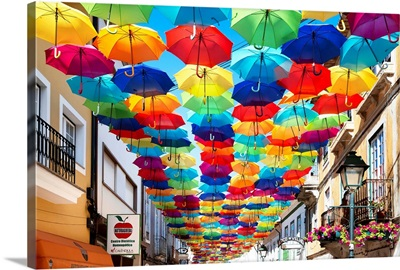 Welcome to Portugal Collection - Colourful Umbrellas