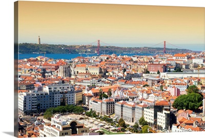 Welcome to Portugal Collection - Lisbon Landscape at Sunset