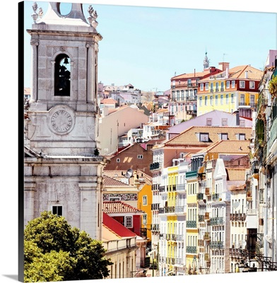 Welcome to Portugal Square Collection - Colorful Street of Lisbon
