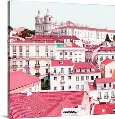 Welcome to Portugal Square Collection - Incredible Lisbon Pink II