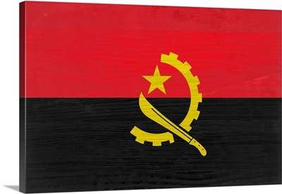 Wood Angola Flag, Flags Of The World Series