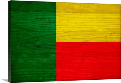 Wood Benin Flag, Flags Of The World Series