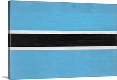 Wood Botswana Flag, Flags Of The World Series