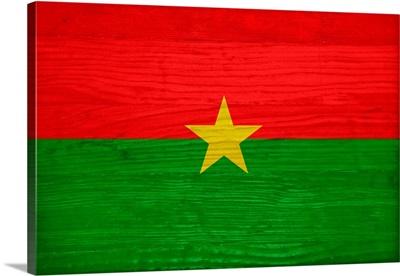 Wood Burkina Faso Flag, Flags Of The World Series