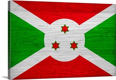 Wood Burundi Flag, Flags Of The World Series