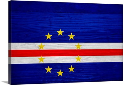 Wood Cabo Verde Flag, Flags Of The World Series
