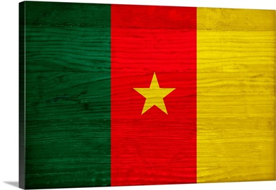 Wood Cameroon Flag, Flags Of The World Series