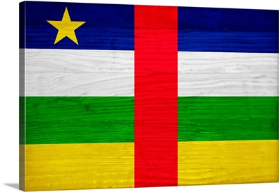 Wood Central African Republic Flag, Flags Of The World Series
