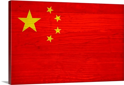 Wood China Flag, Flags Of The World Series