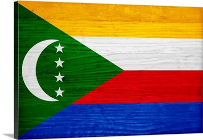 Wood Comoros Flag, Flags Of The World Series