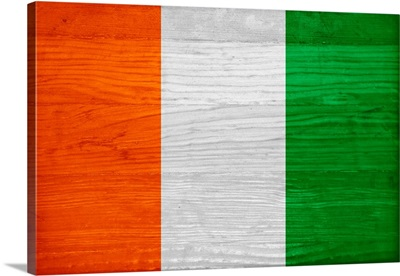 Wood Cote D'Ivoire Flag, Flags Of The World Series