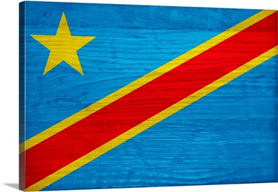 Wood Democratic Republic Of The Congo Flag, Flags Of The World Series