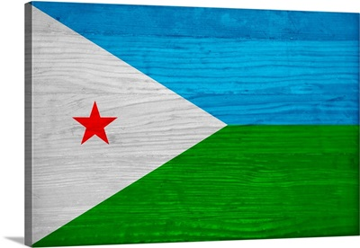 Wood Djibouti Flag, Flags Of The World Series