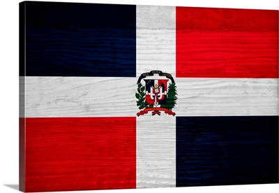 Wood Dominican Republic Flag, Flags Of The World Series