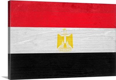 Wood Egypt Flag, Flags Of The World Series