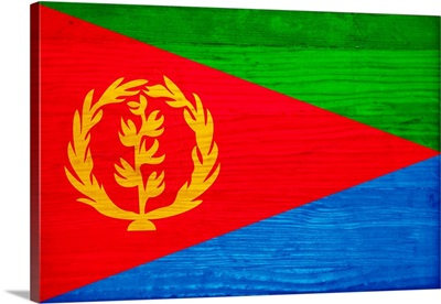 Wood Eritrea Flag, Flags Of The World Series
