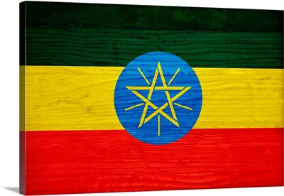 Wood Ethiopia Flag, Flags Of The World Series