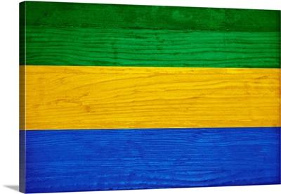 Wood Gabon Flag, Flags Of The World Series