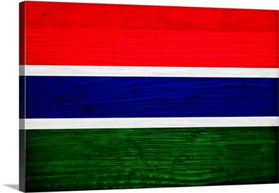 Wood Gambia Flag, Flags Of The World Series