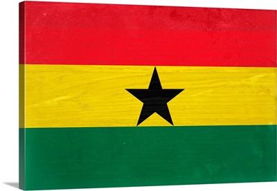 Wood Ghana Flag, Flags Of The World Series