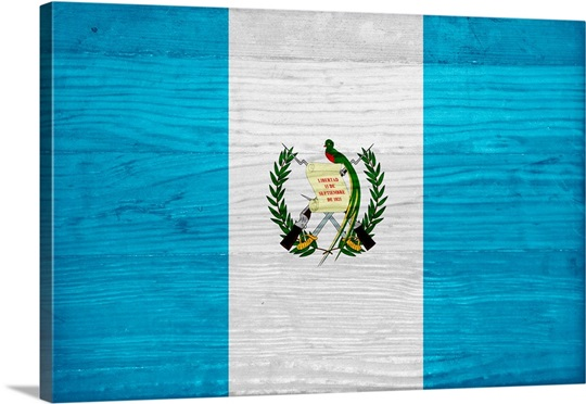wood guatemala flag flags of the world series wall art canvas
