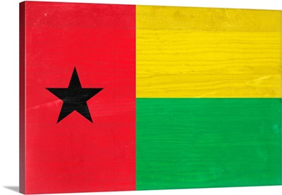 Wood Guinea-Bissau Flag, Flags Of The World Series