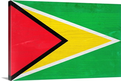 Wood Guyana Flag, Flags Of The World Series